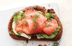 Smoked Salmon and Cucumber Toast - SELF