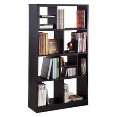 """Enitial Lab Isbel Bookcase at hayneedle.com $329 for 33"""" wide with swivel on cubbies."""