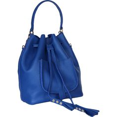 Italian leather Royal BLUE (615 PLN) ❤ liked on Polyvore featuring bags, handbags, shoulder bags, leather purse backpack, leather crossbody purse, man leather shoulder bag, lightweight backpack and leather backpack
