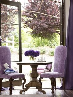 But Darling, the color matches the trees outside. I love it!.............It's so French.