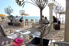 Cannes beach cafe, French Riviera.