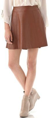 Patterson J. Kincaid - Polly Flirty Leather Skirt - $298.00 - Click on the image to shop now