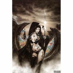 Luis Royo Stained POSTER Goth SEXY Fantasy HOT Art Dark 24x36
