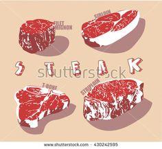 type of steak vector