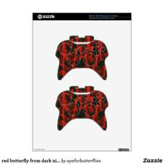 Shop red butterfly from dark night background xbox 360 controller skin created by eyeforbutterflies. Xbox 360 Controller, Red Butterfly, Night Background, Dark Night, All The Colors, Halo, Alone