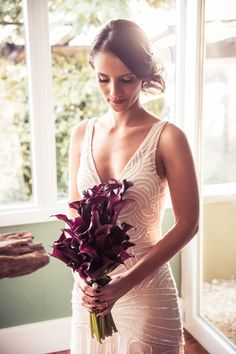 Vestido de noiva em tom de rosa velho sobreposto com off-white - Casamento Lissa Fedrizzi e Thiago Cruz