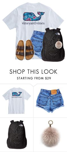 """""""~school~"""" by auburnlady ❤ liked on Polyvore featuring The North Face, Oscar de la Renta and Birkenstock"""