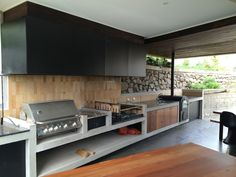 """Obtain wonderful recommendations on """"outdoor kitchen countertops granite"""". They are on call for you on our web site. Outdoor Bbq Kitchen, Patio Kitchen, Summer Kitchen, Outdoor Kitchen Design, Open Kitchen, Outdoor Cooking, Kitchen Decor, Parrilla Exterior, Built In Grill"""