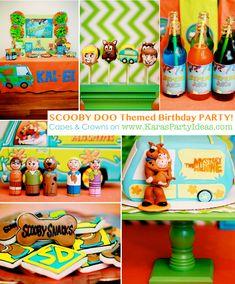 Scooby Doo themed birthday party via Karas Party Ideas | KarasPartyIdeas.com #scooby #doo #themed #birthday #party #ideas #cake #decorations #supplies #favors #cupcake #idea
