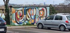 Österreich _Wien-19-Nussberggasse Murals, Travelling, Street Art, Van, Wall Paintings, Mural Painting, Vans, Wall Murals, Mural Art