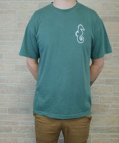 Adult Blue Granite T-Shirt with Outline Print