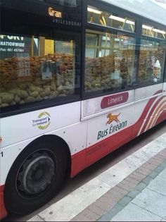 Because nothing says Irish culture like a bus eireann bus full of potatoes. Photo from back in September at Limerick, City of Culture 2014.