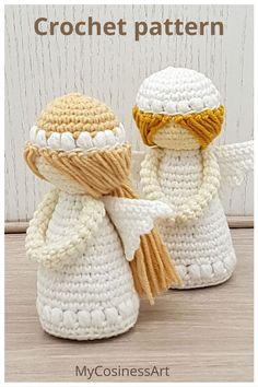 Crochet Angel Pattern, Crochet Angels, Crochet Patterns Amigurumi, Crochet Dolls, Crochet Christmas Gifts, Christmas Gifts To Make, Crochet Gifts, Macramé Angel, Diy Crochet And Knitting