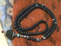 Bog Oak & Heavy Agate Rosary  <3 supports my seva in rural india