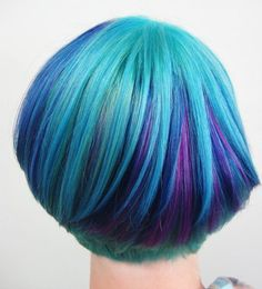 blue, teal and purple. via Lovely Dyed Locks