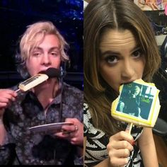Laura chose the ross biscuit! Austin And Ally, Jaz Sinclair, Austin Moon, R5 Band, Rocky Lynch, When Im Bored, Laura Marano, Prince Royce, Scotty Mccreery