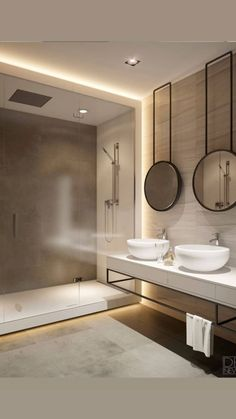 Luxury Bathroom Master Baths Dreams is unquestionably important for your home. Whether you pick the Luxury Bathroom Ideas or Luxury Bathroom Ideas, you will create the best Interior Design Ideas Bathroom for your own life. Bathroom Lighting Design, Modern Bathroom Design, Bathroom Interior Design, Bath Design, Interior Ideas, Modern Design, Pinterest Bathroom, Toilette Design, Mirror Cabinets