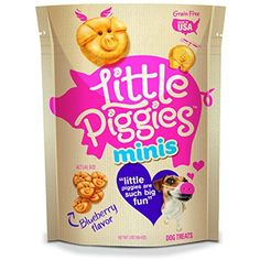 Little Piggies Minis Dog Treats Blueberry Flavor, 7 oz ~ To check this awesome product by going to the link at the image. (This is an affiliate link and I receive a commission for the sales)