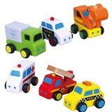 Set van 6 leuke autootjes. Voor kinderen vanaf 1-1,5 jaar. Ongeveer 10x8 cm per auto.