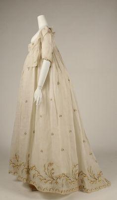 Dress Date: late 1790s Culture: American or European Medium: cotton