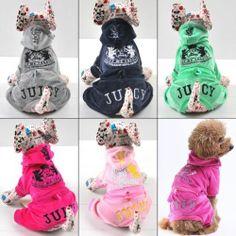 Various Hoodie Velour Jumpsuit Pajamas DOG Clothes Coat Apaprel XS S M L XL | eBay