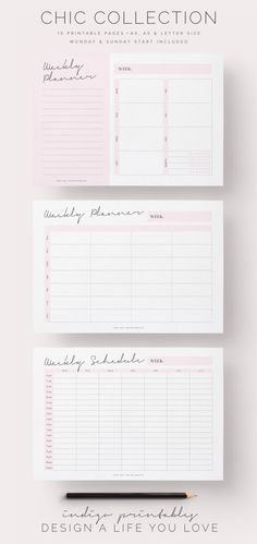 Chic Planner Pack, Printable, 15 Pages | Created by @IndigoPrintables The Chic…