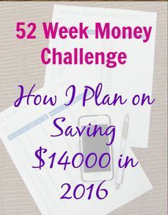 My 52 week money challenge is going to be the saving of increments of $10 each so that I will be able to save $14310 by the end of 2016. Are you with me?