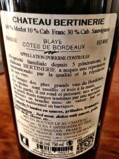 El Alma del Vino.: Château Bertinerie Merlot-Cabernet 2010.