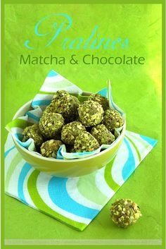 Matcha White Chocolate Pralines with Pistachios
