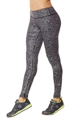 The Heart Perfect Long #Zumba Leggings #zumbawear are your favorite new style and just got a LOVE-ly black and silver print update!