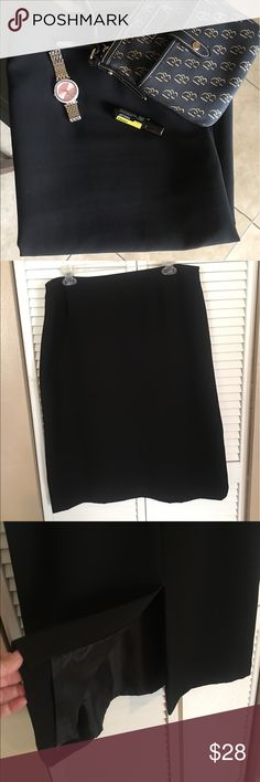 Just In ‼️ Black Business Skirt,  🅿️ Size 18 Black Business Skirt, Pre-Loved, Fully Lined, Size 18 *** Due to the liner I feel it fits a size 14 comfortably*** Lightly worn so this skirt is in excellent condition. ✔️ Reasonable offers welcomed ✔️ Love to Bundle ✔️ Please ask questions Preston & York Skirts