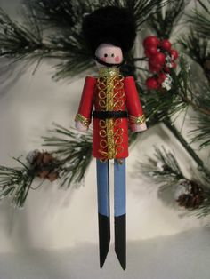 Toy Soldier Clothespin Ornament.