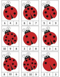 ladybug counting activity More on math and learning in general zentral-lernen.de Source by tinkerbel Counting Activities, Preschool Learning Activities, Preschool Activities, Space Activities, Math Games, Daily Activities, Activity Games, Numbers Preschool, Kindergarten Math Worksheets