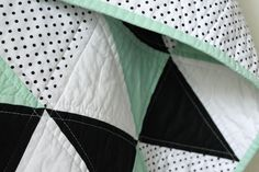 craftyblossom: mint and licorice :: a baby quilt.