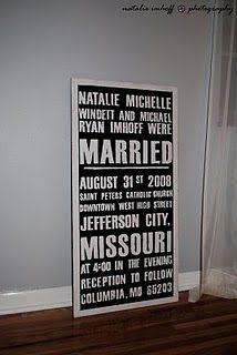 Vintage Subway Marriage Sign