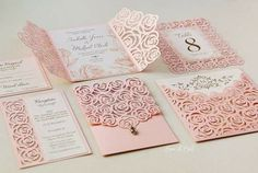 Roses wedding luxury card template cutting file (svg, d Rose Wedding, Dream Wedding, Wedding Stationery, Wedding Invitations, Invites, Lace Stencil, Laser Cut Patterns, Luxury Card, Wedding Inspiration