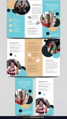 Explore more than ready to use brochure design templates for pamphlets, proposals, reports, and manuals in a variety of styles. Brochure Indesign, Template Brochure, Booklet Template, Bi Fold Brochure, Brochure Layout, Business Brochure, Corporate Brochure, Corporate Identity, Corporate Design