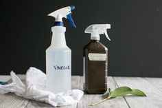 Learn how to make a two-ingredient homemade natural disinfectant cleaner that's safe to use on food and kills germs better than bleach.
