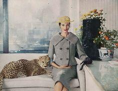 Harper's Bazaar, February 1958  photo by Gleb Derujinsky