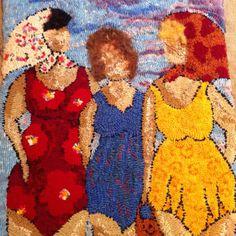 Three girls at the beach. A Deanne Fitzpatrick design.