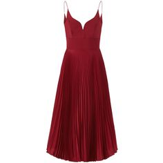 Rental Nicole Miller Oxblood Pleated Sweetheart Dress ($80) ❤ liked on Polyvore featuring dresses, red, pleated dress, sleeveless dress, sweetheart neck dress, sleeveless pleated dress and sweetheart neckline dress