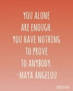 You are MORE than enough! Don't let anyone else's insecurities make you question who you are!