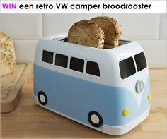 Win een VW camper broodrooster