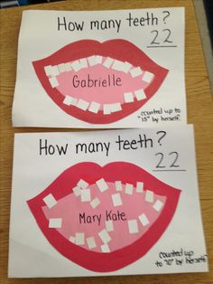 Community helpers.....dentist. Saw this on Pinterest but I made a math activity out of it. The children counted the teeth.....they counted as high as they could and then we finished counting together. You can see Mary Kate is a young 3 year old (turned 3 in August) compared to Gabrielle who is four.