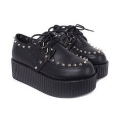 $16.77 Stylish Women's Platform Shoes With Pointed Rivets and Lace-Up Design