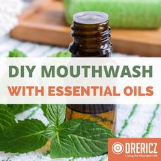 This DIY mouthwash recipe uses essential oils and is non-toxic. Keep a healthy oral hygiene by using homemade toothpaste and homemade mouthwash.
