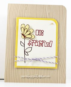 card by SPARKS DT Glenda--using Friendly Flowers and My Peeps stamp sets   Paper Smooches SPARKS: June 18-24 Cool Shades