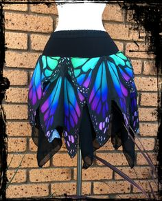 Butterfly Wing Mini Pixie Skirt Custom made to your size