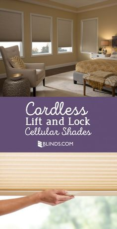 Get a FREE safer upgrade for your window shades with our new sleek feature - Cordless Lift and Lock!