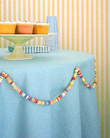 candy necklace decorations for a childs party